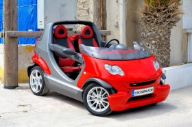 Have the ultimate fun with the Smart CrossBlade Red fully automatic, rent it now In Satorini!